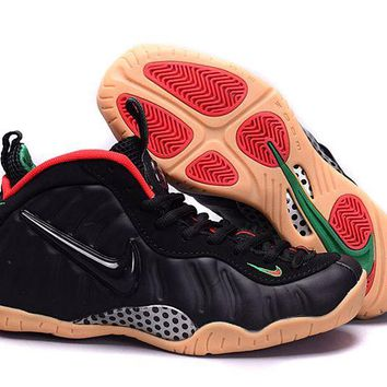 Jacklish Nike Air Foamposite Pro Black/gorge Green-gym Red Girls Size