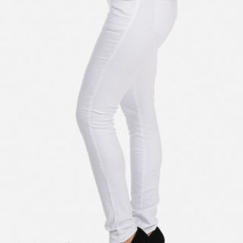 Cheap Trendy White Skinny Jeans in Jeans