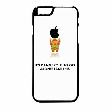 Legend Of Zelda Link Holding Apple Dangerous White iPhone 6 Plus Case