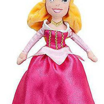 "Licensed cool Disney Store MINI PRINCESS AURORA SLEEPING BEAUTY PLUSH BEAN BAG  DOLL 11""  NWT"