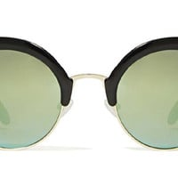 Expo Sunglasses with Green Mirror from Cheap Monday