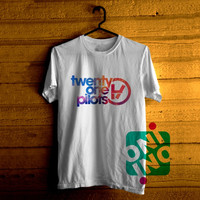 Twenty One Pilots Logo on Galaxy Tshirt For Men / Women Shirt Color Tees