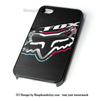 Fox Head Racing Sport Wear iPhone 4 4S 5 5S 5C 6 6 Plus , iPod 4 5  , Samsung Galaxy S3 S4 S5 Note 3 Note 4 , and HTC One X M7 M8 Case