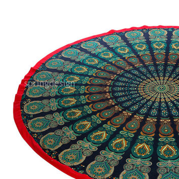 Shi, Bohemian Mandala Roundie Wall Hanging Tapestry Hippie Throw