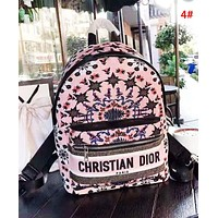 DIOR Fashion New Letter More Pattern Leisure Backpack Bag Women 4#