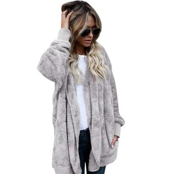 Hooded Fur Jackets Womens