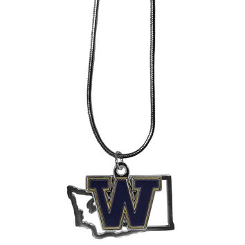 Washington Huskies State Charm Necklace