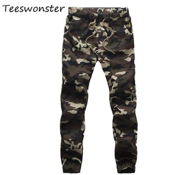 Men Joggers Army Harem Pants 2017 Men Camouflage Cargo Tactical Breeches Compression Pants Military Trousers Overalls Sweatpants