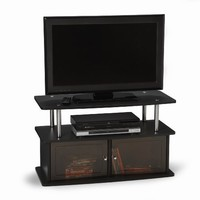 Convenience Concepts Designs2Go TV Stand with 2 Cabinets for Flat Panel TV's up to 36-Inch or 80-Pound, Black