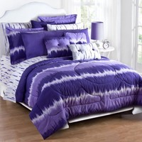 Purple Tie Dye Sheet Set - Queen