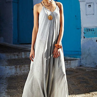 Pinstriped Maxi Dress by Anthropologie Black & White M Dresses