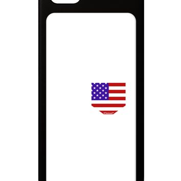 American Flag Faux Pocket Design iPhone 5 / 5S Grip Case  by TooLoud