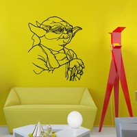 Wall Decals Vinyl Stickers Yoda Star Wars Home Decor Design Interior Art Mural Boys Room Kids Bedroom Dorm Z775