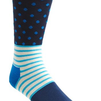 Men's Happy Socks 'Stripes & Dots' Socks - Blue