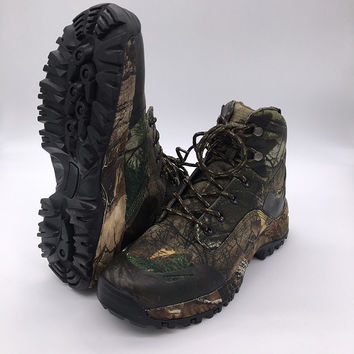 Camo Hunting Boot Realtree AP Camouflage Winter Snow Boots Waterproof,Outdoor Tactical Camo Boot Hunting Fishing Shoe Size 39-45