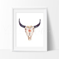 Tribal Cow Skull 2