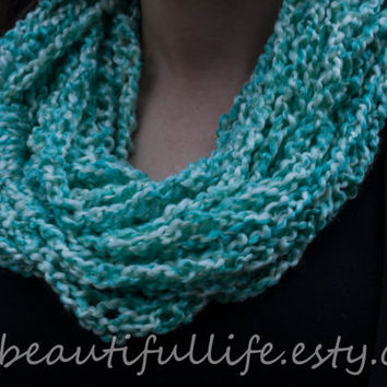 "Crochet Infinity Chain Scarf - ""Brittney"" - Featured at All Blinged Out Cowgirls"