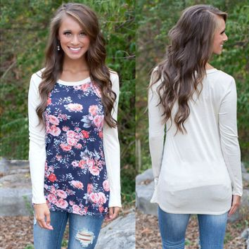 Floral Print Long-Sleeve Shirt