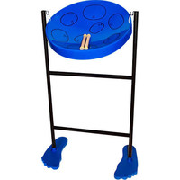 Jumbie Jam Steel Drum Blue with Sticks, Stand and Book