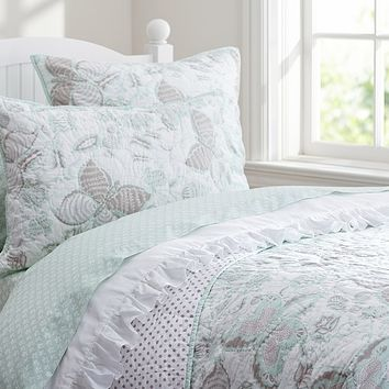 Evelyn Butterfly Quilted Bedding | Pottery Barn Kids