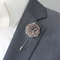 Carnation boutonniere, mens lapel flower pin, wedding boutonniere, flower lapel pin, valentines day gift
