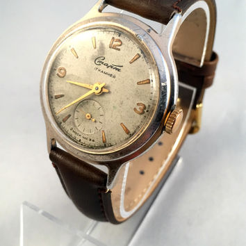 "RARE Vintage men's ""START"" (CTAPT) watch - Soviet Omega Ranchero - beautiful watch with brand new leather band!"