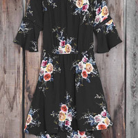 Cupshe Never Doubt Flowers Off Shoulder Dress