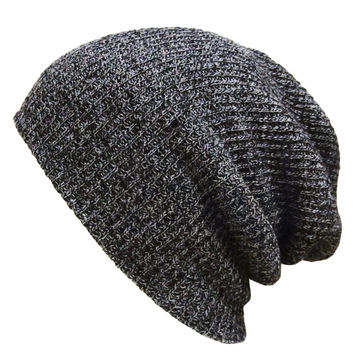 Men Women Knitted Baggy Beanie Plain Warm Gorro Ski Slouchy Skull Crochet Knit Hat Bonnet Fall Snapback Muts SM6