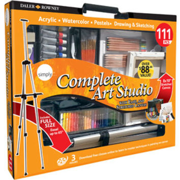 Walmart: Simply 111-Piece Complete Art Studio with Easel and Canvas