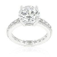 Genevi Classic Soliatire Engagement Eternity Ring | 4.5ct | Cubic Zirconia | Silver