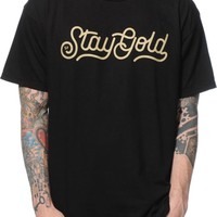 Benny Gold Stay Gold Script T-Shirt