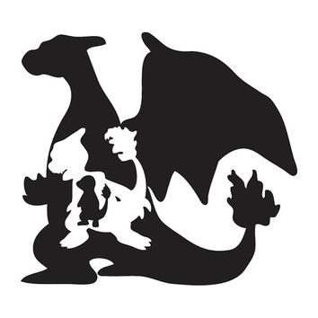 Pokemon Evolution - Charizard Charmeleon Charmander Decal Sticker