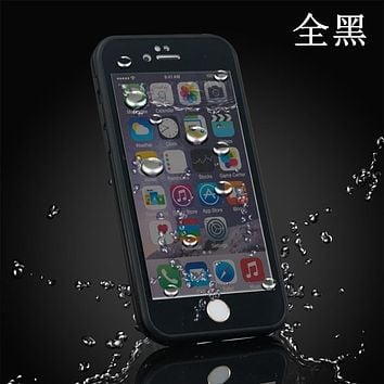 High-quality 100% waterproof phone case  for iphone 6 6spluswaterproof shockproof tpu cell phone case, mobile phone touch screen