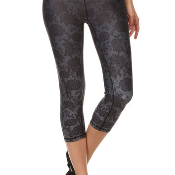 Black Ombre Lace Dream Capris