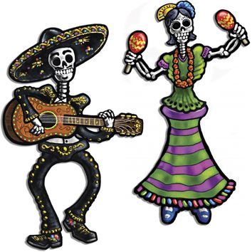 Jointed Day of the Dead Skeletons Case Pack 24