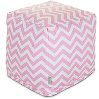 Baby Pink Chevron Small Cube