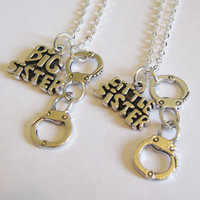 2 Sisters Partner In Crime Handcuff Necklaces Big And Little Sister