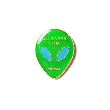Believers Club Alien Pin