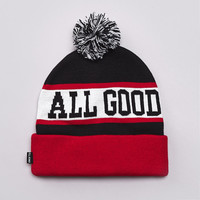 Flatspot - Undefeated All Good Pom Pom Beanie Black