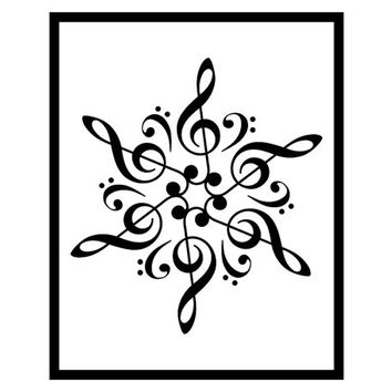 Music mandala - Digital print Sol key print Fa key print Music key print Gift for music lover Living room decor Mandala print Mandala decor