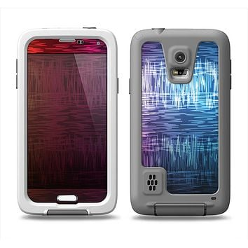 The Vibrant Colored Lined Surface Samsung Galaxy S5 LifeProof Fre Case Skin Set