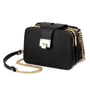 2017 New Women Flap Messenger Bags Chain Strap Shoulder Bag Designer Female Handbags Clutch Bags With Metal Buckle Famous Brands