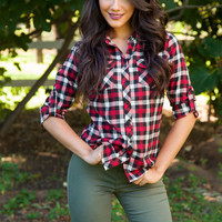 Bonfire Plaid Top