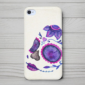 iPhone 4 Case, iPhone 4 Cases, iPhone 4S Case, iPhone 4 Case Wrap Around - Sugar Skull