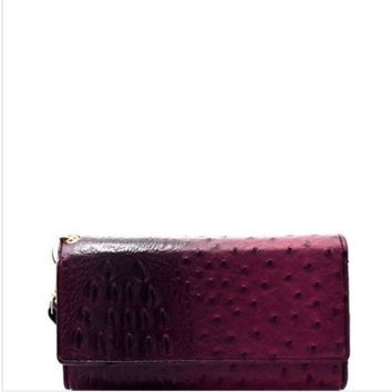 Classic Republic Ostrich Embossed Wallet