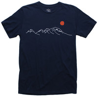 Altru Apparel Risen Sun Over Mountains Tee (Embroidered) (Size 2XL only)