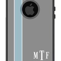Otterbox iPhone 5 Case Commuter Series 5 5s Personalized Men Guys Gift Initials Stripe Monogrammed Protective Plastic Hard Cover OB-1112