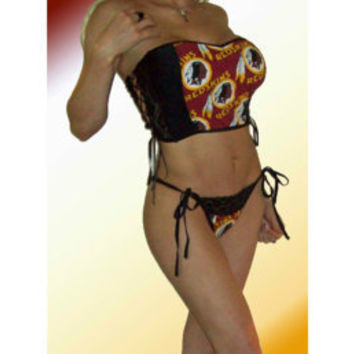 NFL Washington Redskins Lingerie SEXY Lace Cami Top and Panties Set