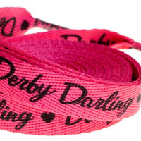 Derby Darling Pink shoe/roller skate laces by Sourpuss - SALE
