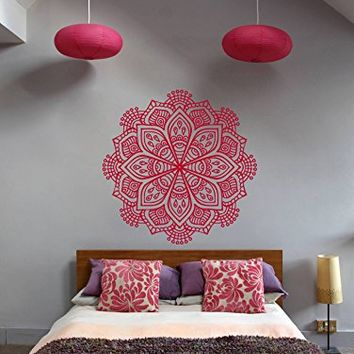 ik368 Wall Decal Sticker Room Decor Wall Art Mural mandala hamsa hand Buddha Hindu Hinduism India Ornament living room bedroom